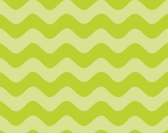 Riley Blake tone on tone wave chevron in lime green