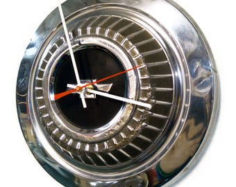 1966 - 1967 Chevrolet Chevelle and Nova Hubcap Clock - Chevy Hub Cap Wall Decor - Classic Car