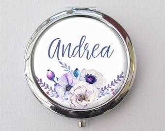 Custom Bridesmaid Gift, Compact Mirror