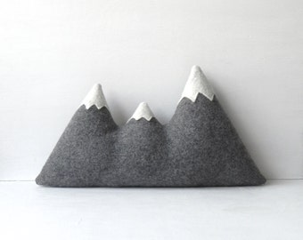 the Sisters - ORIGINAL woolen mountain pillow - Made To Order
