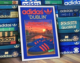 ADIDAS Originals Dublin City Series A3 Print trainers Limited Edition Art