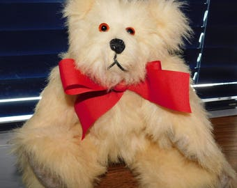 """SALE Handcrafted Faux Fur Fully Jointed Teddy Bear 12"""""""