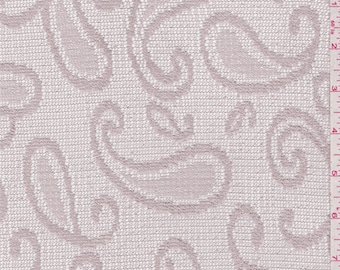 Champagne Beige Paisley Crochet Lace, Fabric By The Yard