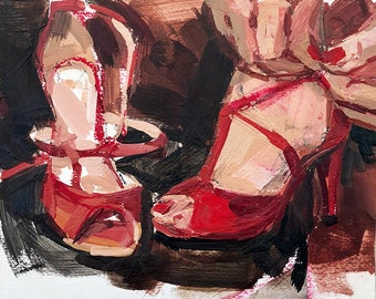 Red Tango Shoes Two