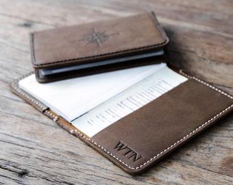 Passport Cover Initials•Leather Passport Holder•Passport Case•Personalized Passport Cover•Student Travel Gift•Compass Passport #071