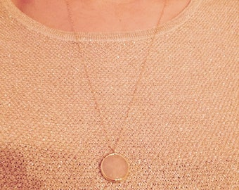 Gray stone necklace