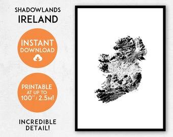 Ireland map print, Printable Ireland map art, Ireland print, Ireland art, Ireland poster, Ireland wall art, Ireland gift, Map of Ireland