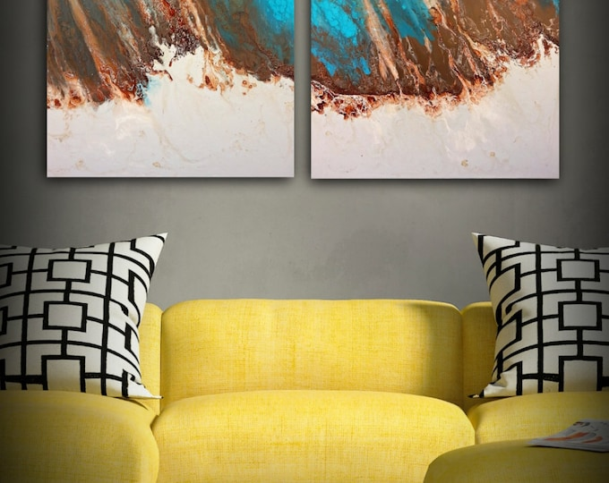 Art Painting, Abstract Painting, Acrylic Painting, XL / Extra LARGE Wall Art, Beach Coastal Home Decor, Canvas Art, L Dawning Scott 36 x 48