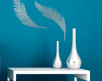 Feathers Wall Sticker - Pack of 2 Feather Wall Decals