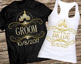Bride and groom shirts, Honeymoon tank, Disney honeymoon shirts, Bridal party shirts, Honeymoon shirts, Just married shirts, Disney shirts