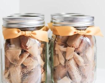 Gifts for MOMS under 20 - Fleur de Sel Caramels - Set of (4) Half Pound Jars of Caramels