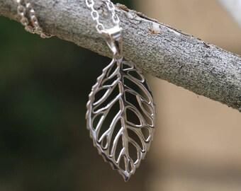 Leaf Necklace Charm, Leaf Pendant, Sterling Silver Leaf Pendant, Necklace Charm, Leaf Jewellery, Silver Leaf, Sterling Silver Pendant Only