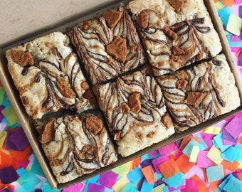 Vegan Lotus Biscoff Blondies (6) Cake, Brownies, Vegan Bakery