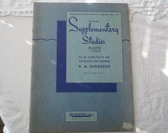 1937 Rubank Supplementary Studies Flute or Piccolo R M Endresen