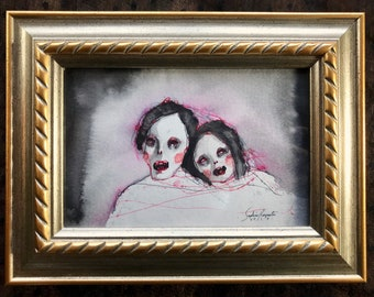 Happy Couple (original framed painting)