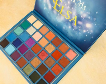 Elsa Eyeshadow Palette By Beauty Creations Brushes & Lipsticks not included