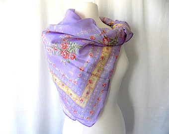 Violet Scarf or Wrap by Honey®, Made in India, Large and Lightweight