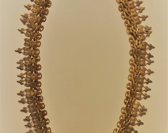 Solid Brass Scroll Necklace