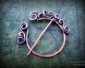 Celtic Copper Penannular Brooch