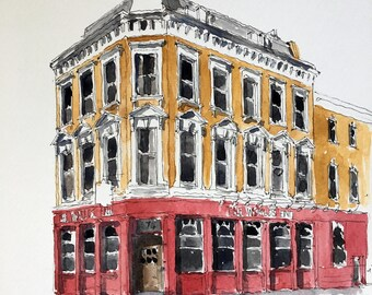 Pub Life: Charming watercolours of London's best pubs - The Worlds End, Camden.