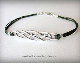 Celtic Knot bracelet, Outlander, Celtic jewelry, Scottish bracelet, Irish bracelet, gift for woman, St Patricks gift for her