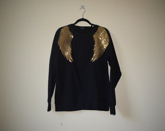 Black Applique Sweatshirt