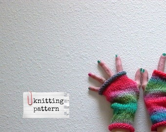 easy knitting pattern jazz hands fingerless gloves pattern . PDF electronic delivery . texting typing gloves fingerless mittens knit pattern