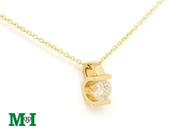 Solitaire Diamond necklace, Diamond Necklace,Natural Diamond Pendant, Real Diamond Necklace, Charm & Necklaces