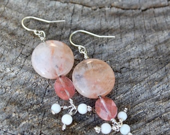 Flirty Strawberry and Cherry Quartz Earrings FABSE44