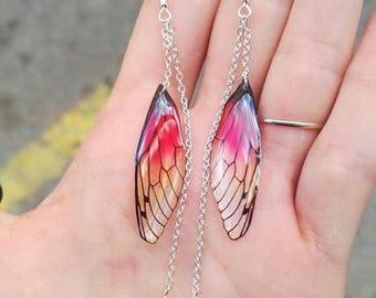 Earrings dangling warm fairy wings