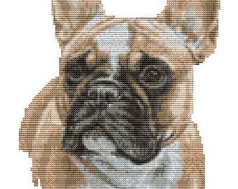 Cross |Stitch kit- French bulldog 19cm x 24cm