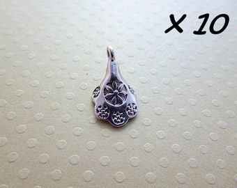 Set of 10 charms Cup silver 11 x 18 mm - L628