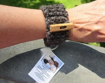 Key Fob, Keychain, Knit Key Fob, Knit Keychain made from Alpaca