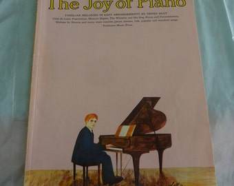 The JOY of PIANO Familiar Melodies in Easy Arrangements by Denes Agay  1968