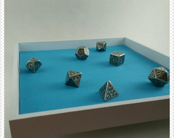 Square Wooden Dice or Jewelry Tray with Color Options
