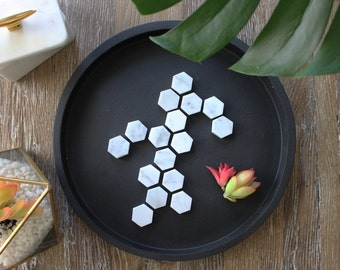Marble Refrigerator Magnets - Hexagon (Set of 8)