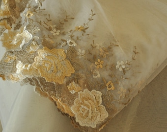5 yards Delicate Bridal Embroidered Lace Trim