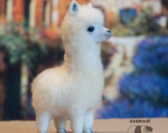 FOR EXAMPLE  Not for sale  Alpaca, needle felted toy, alpaca animal toy, llama toy, felt alpacas, soft sculpture, home decor