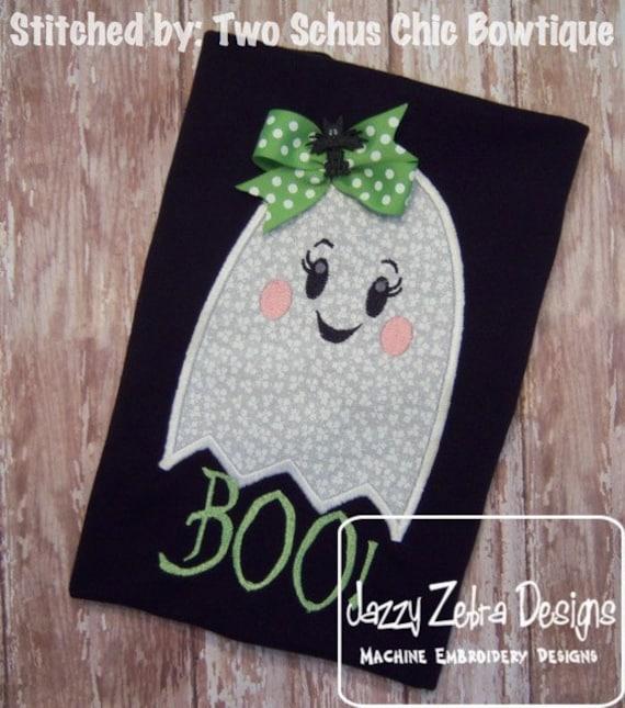 Girl Ghost Appliqué embroidery Design - halloween Appliqué Design - ghost Applique Design - girl Applique Design