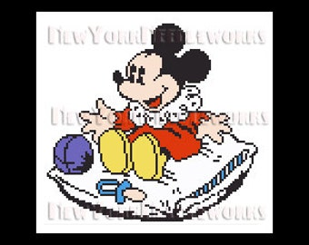 Baby Mickey Mouse Cross Stitch, Mickey Cross Stitch, Disney Cross Stitch, Patterns, Mickey Mouse, Disney from NewYorkNeedleworks on Etsy