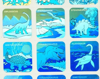 Dinosaur Holographic Stickers - FREE SHIPPING - appear 3-D