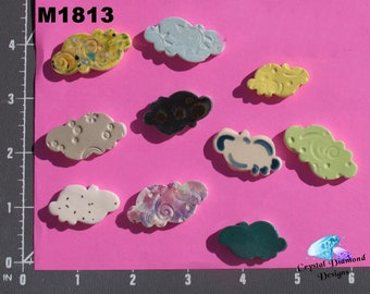 Assorted Clouds - Kiln Fired Handmade Ceramic Mosaic Tiles M1813