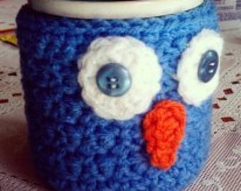 Crochet Owl Coffee/Tea Mug Cozy