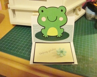 Frog UNFROG-GETABLE stand-up greeting card