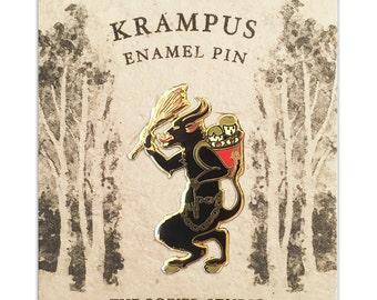 Krampus Holiday Cloisonné Enamel Pin