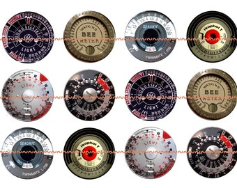 Steampunk Magnets Pins Light Meters Vintage Dials  Fridge Magnets Party Favors Pin Magnet Gift Sets