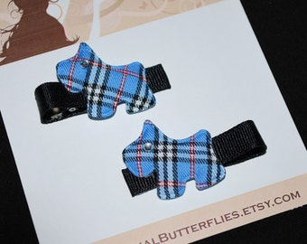 Blue Scottie Dogs No Slip Hair Clips - Buy 3 Items, Get 1 Free