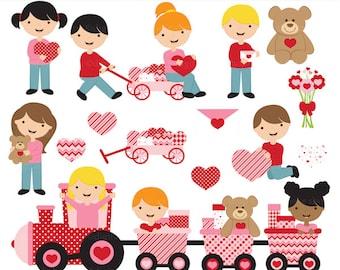 valentine's day valentines clipart clip art - Be My Valentine Digital Clip Art - BUY 2 GET 2 FREE