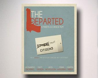 The Departed Minimalist Movie Poster / movie poster / minimal movie poster / alternate movie poster