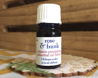 Rose & Frank - essential oils, balancing, centering, organic, calming, anti anxiety, gift, rose absolute, frankincense, vetiver